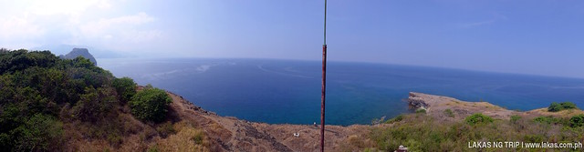 Panoramic View from the top of the lighthouse of Capones Island, Pundaquit, San Antonio, Zambales