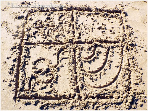 Zentangle in the sand