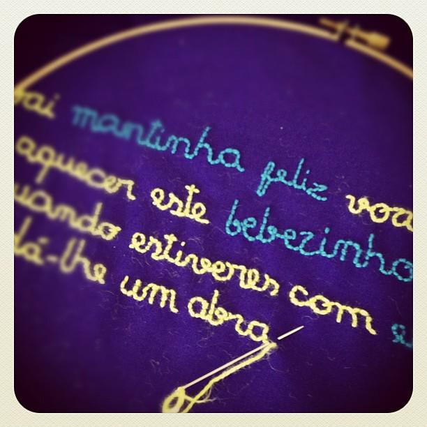 Embroidering for www.abbrigate.com