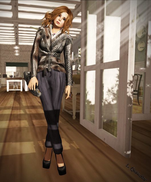 Gizza Mesh Blouse - Croc & Baiatice Joho High Waited Pants