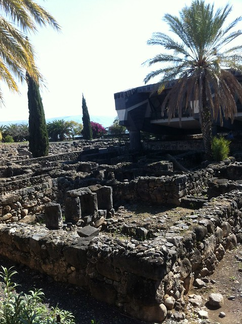 ancient ruins from 1st century in Capernaum