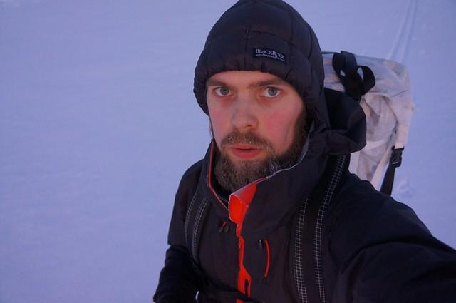 Self portrait on skis