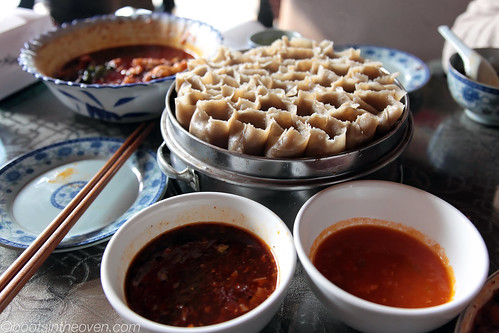 You Mian Kao Lao Lao  - rolled noodles with dipping sauces