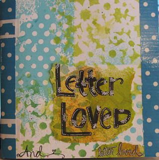 Letter Loved journal...finished