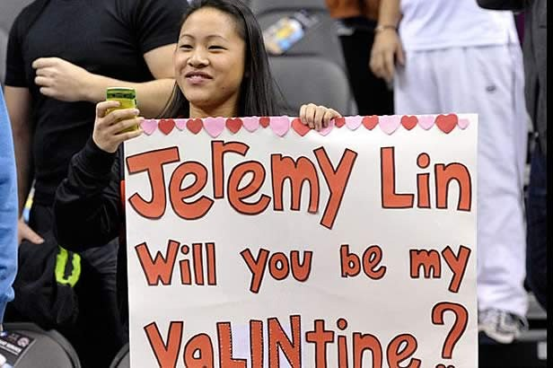 Jeremy Lin Will you be my VaLINtine?
