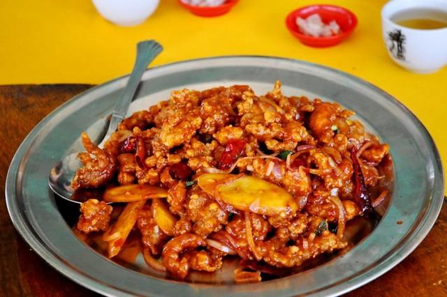 14.fried mantis prawn @ restaurant kuala selangor latitude = 3.34896, longitude = 101.25107