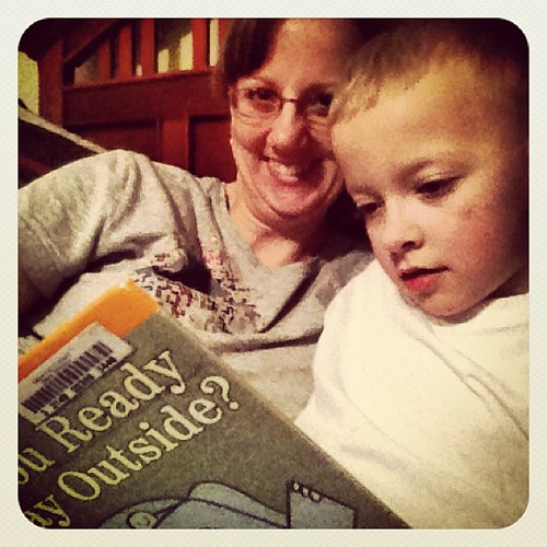 Photo A Day: Day 26: Night. Bedtime reading with Zach.