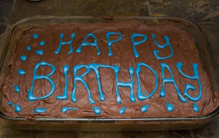 Dave's birthday cake.
