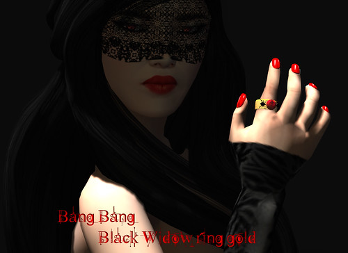 Bang Bang - Black Widow ring gold