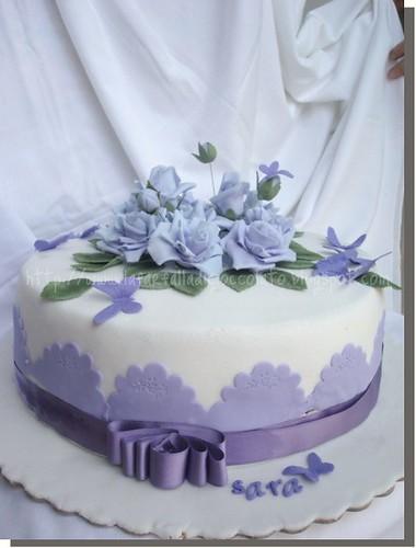 Violet rose cake