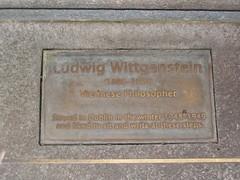 Photo of Ludwig Wittgenstein bronze plaque