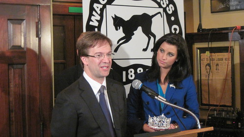 County Executive Chris Abele speaks at the Miss America Newsmaker Luncheon on March 1, 2012.