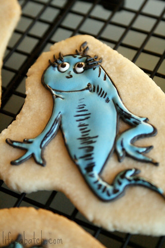 Dr. Seuss Blue Fish Cookie.