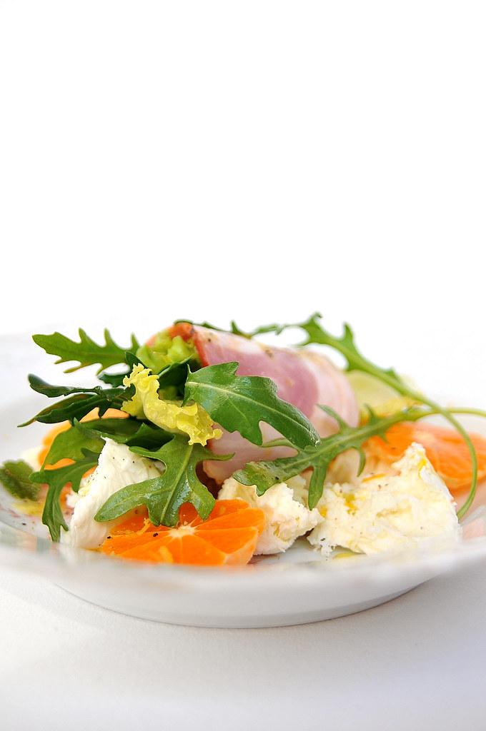 salada de mozzarella e tangerina