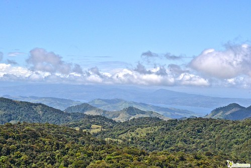 monteverde cloud forest mountain view costa rica