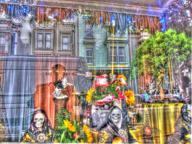 Halloween/Day of the Dead Reflections, HDR Grunge