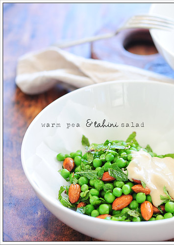 warm pea & tahini salad2