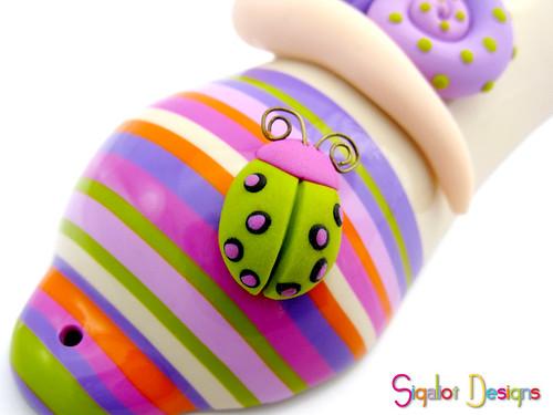 Snail mezuzah case