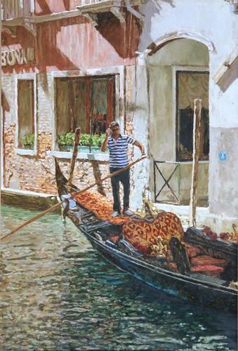 "Venice oil sketch 19¼"" x 13"""