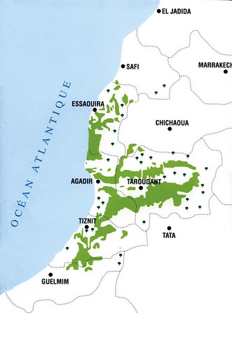 carte geographique d'Arganier