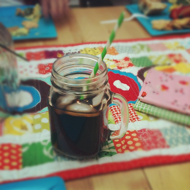 Diet coke, stripey straw and a girls night = awesome!