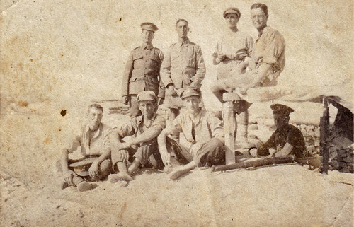 British soldiers. Palestine WW1