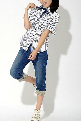 , Casual Cropped Jeans with Floral Turned EdgeChic Skinny Jeans with Painting Spray Embellishment-oasap.com, Family Blog 2020, Family Blog 2020