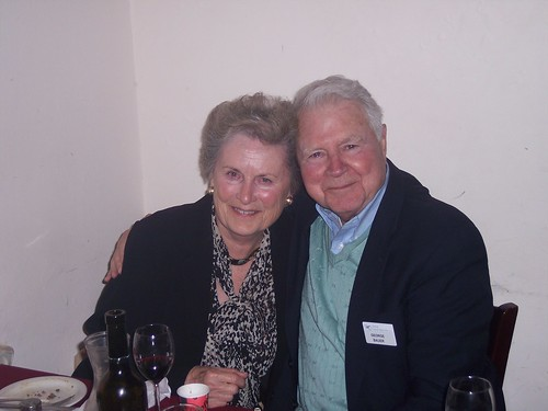 Carol and George Bauer, farewell dinner