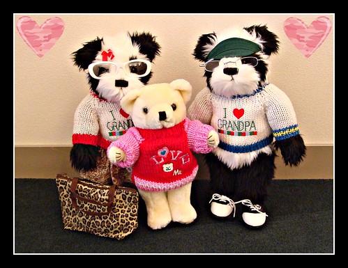 Papa Pandy & Nana Noel introduce Akiko on Valentine's Day!