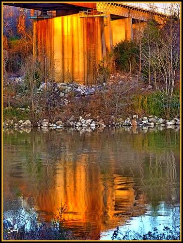 bridge sunset water reflections niceshot riverbridge absolutelyperrrfect blinkagain