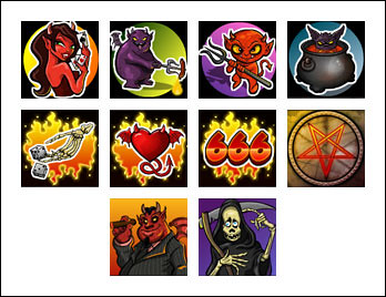 free Devil's Delight slot game symbols