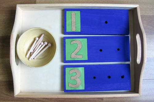 DIY Counting Boards with Sandpaper Numerals (Photo from Peaceful Parenting)