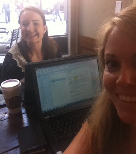 10:42 Feb 9, 2012 - Jacqui and Karin working at Starbucks 2/8/12