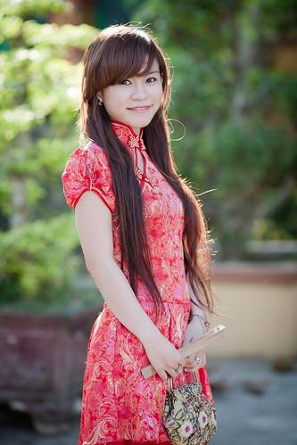 無料写真素材, 人物, 女性  アジア, チャイナドレス, ベトナム人
