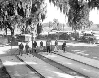 Tin Can Tourists playing shuffleboard: Dade City, Florida