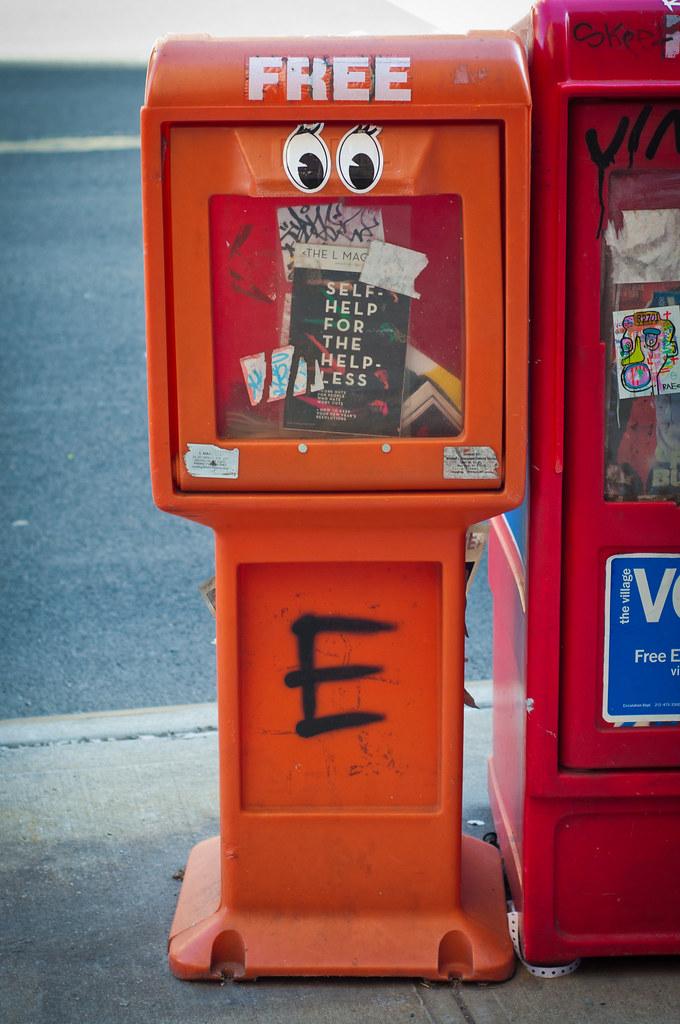 Happy newspaper box