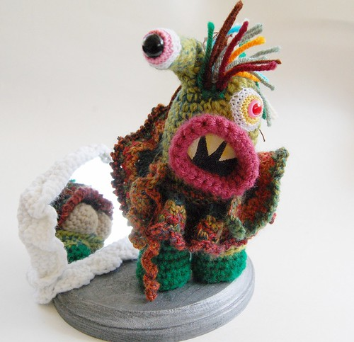 Commando Kate Monster Sculpture by Knot By Gran'ma
