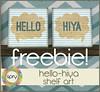 [SPRY] hello-hiya shelf art