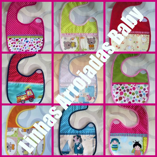 Mosaico das babetes by ♥Linhas Arrojadas Atelier de costura♥Sonyaxana