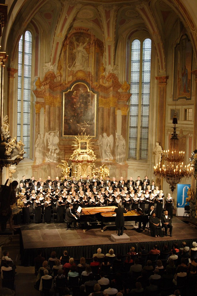 Houston Symphony Chorus performs in the Church of St. Simon and St. Jude as part of the Prague Spring Festival in the Czech Republic