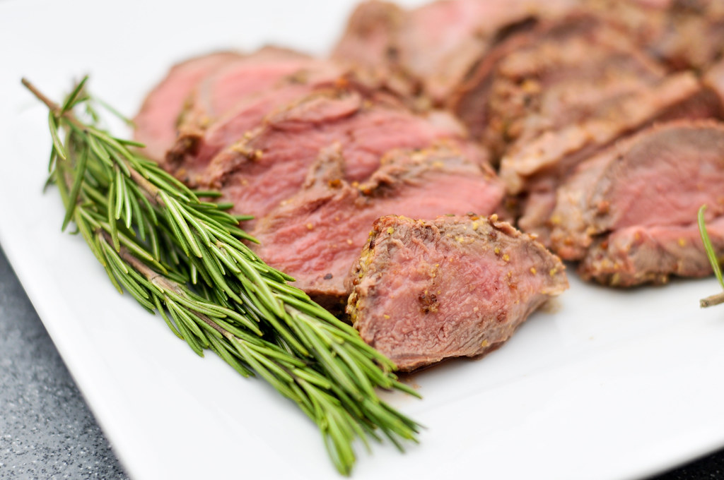 Butterflied Leg of Lamb with Rosemary, Garlic, and Mustard Crust