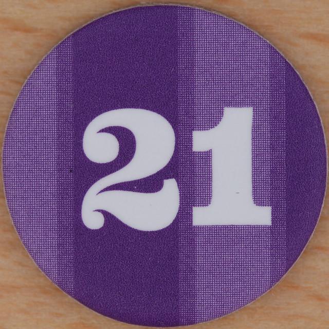 Purple Bingo Number 21...