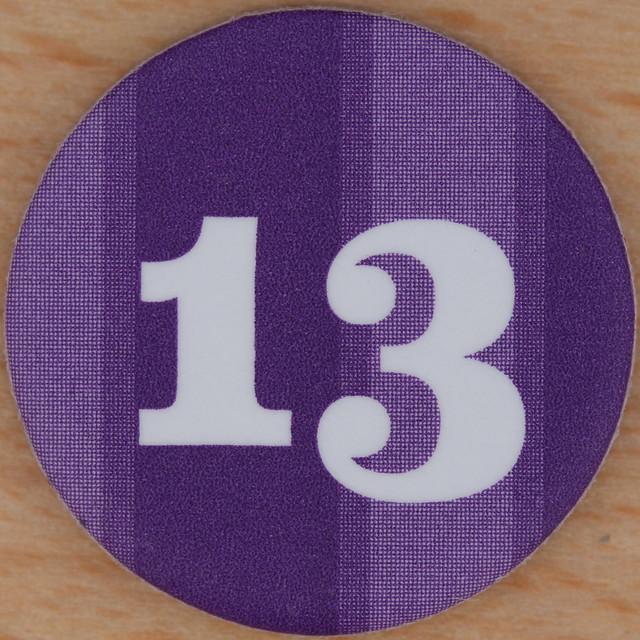 Purple Number 13