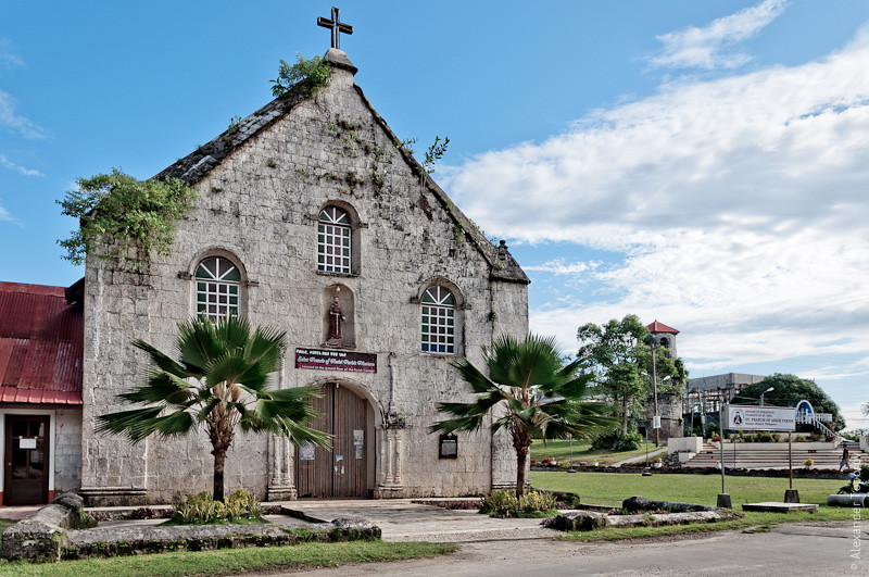 The Church and Bell Tower of St. Francis of Assisi, Siquijor, 1870