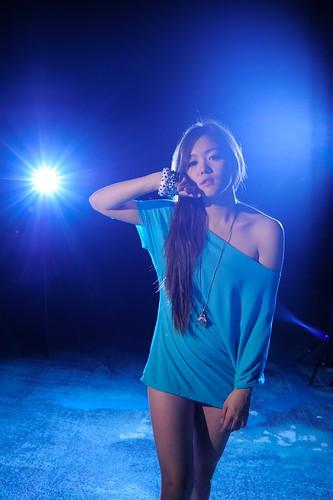 [フリー画像素材] 人物, 女性 - アジア, 青色・ブルー, 台湾人 ID:201204101800