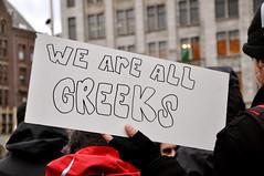 Solidarity to Greece - Amsterdam demonstration