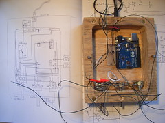 Circuit diagram for automaton head in practise