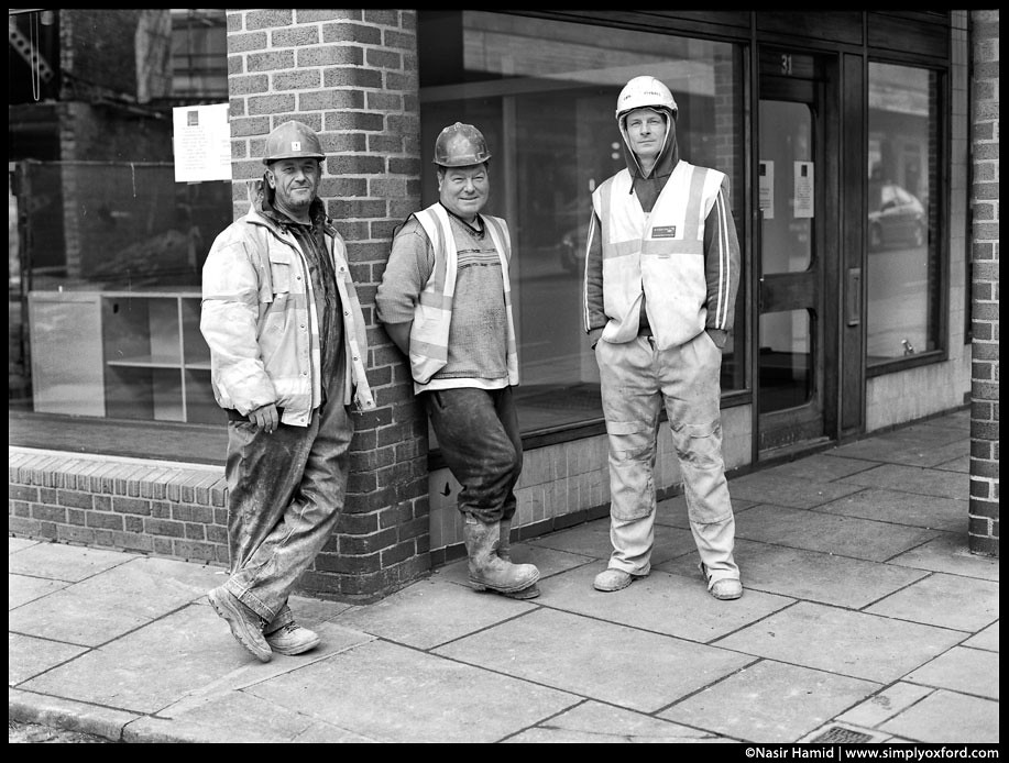 builders taking a break