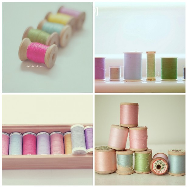 Dreamy sewing threads