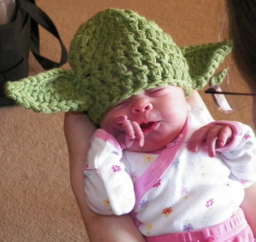 Kaitlyn in Her Yoda Hat